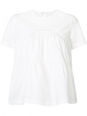 Tiered short-sleeve blouse Co. Цвет: белый