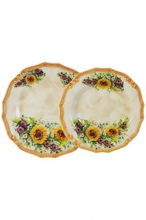 Набор тарелок LCS. Цвет: кремовый, желтый