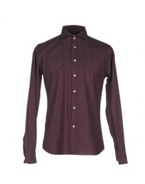 Pубашка NO BRAND. Цвет: красно-коричневый