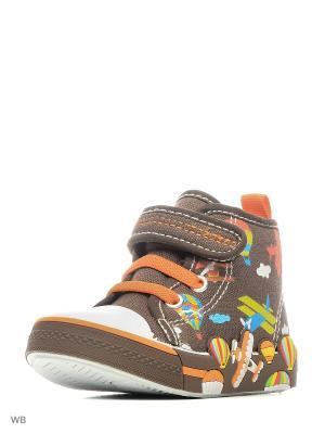 Ботинки Milton. Цвет: коричневый