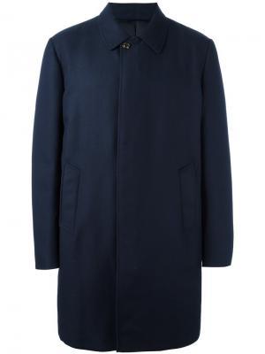 Классическое пальто Moncler. Цвет: синий