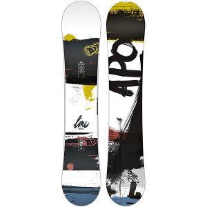 Сноуборд  Line Rocker 159 White/Black Apo. Цвет: черный,белый,желтый