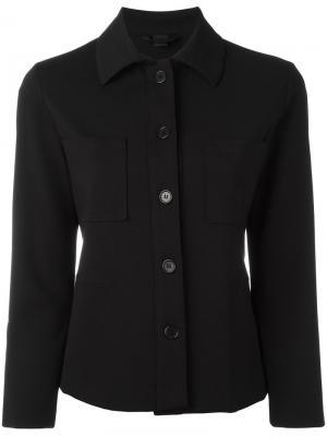Приталенный пиджак рубашечного кроя Aspesi. Цвет: чёрный