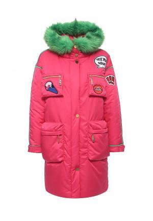 Куртка утепленная Vika Smolyanitskaya. Цвет: розовый