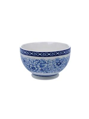 Салатница на ножке Blue Dream IV Elff Ceramics. Цвет: голубой, белый