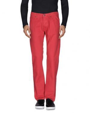 Джинсовые брюки 2 MEN. Цвет: красный