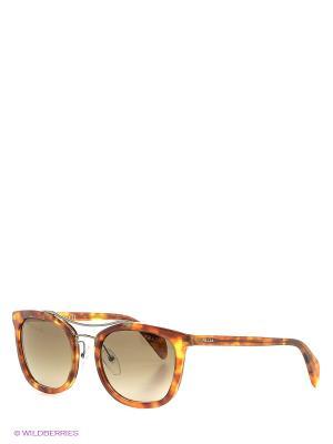 Очки солнцезащитные PRADA. Цвет: светло-коричневый