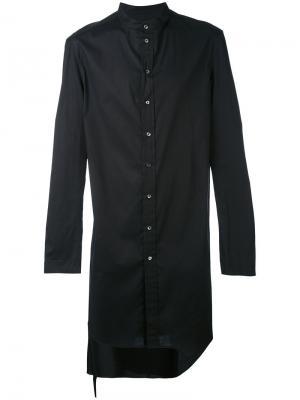 Удлиненная классическая рубашка Tom Rebl. Цвет: чёрный