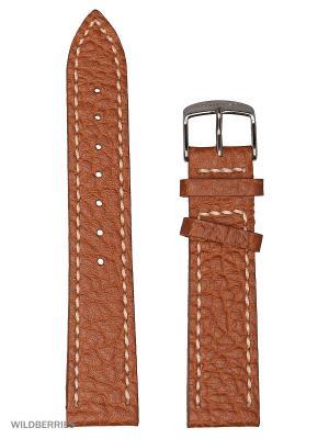 Ремень для часов, кожа БУЙВОЛА K/N J.A. Willson. Цвет: светло-коричневый