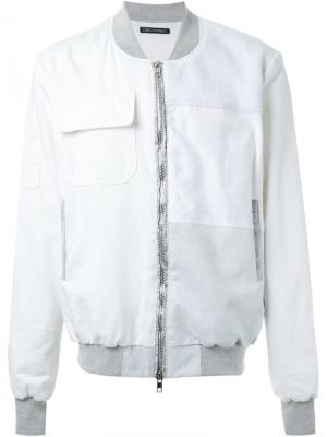 Куртка на молнии Longjourney. Цвет: белый