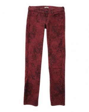 Джинсовые брюки CIMARRON. Цвет: красно-коричневый
