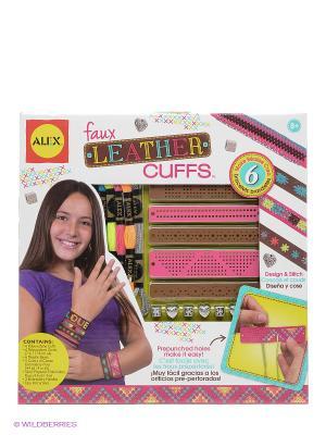 Набор для создания кожаных браслетов Alex. Цвет: сиреневый