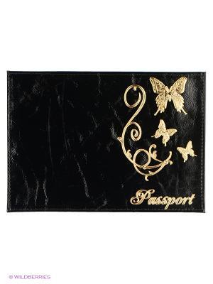 Обложка для паспорта JD.ZARZIS. Цвет: черный