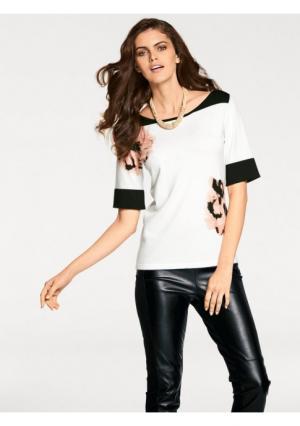 Пуловер PATRIZIA DINI. Цвет: экрю/черный