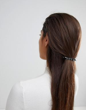 ASOS Заколка для волос с мраморным эффектом DESIGN. Цвет: мульти