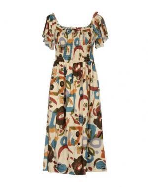 Платье до колена PAOLO CASALINI. Цвет: светло-желтый