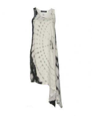 Короткое платье MARIA CALDERARA. Цвет: белый