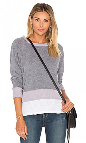 Двухслойный свитер-реглан MONROW. Цвет: серый