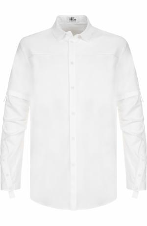 Удлиненная хлопковая рубашка Lost&Found. Цвет: белый