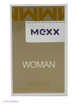Туалетная вода Mexx Woman, 20 мл. Цвет: золотистый, белый