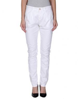 Повседневные брюки OSSO GOCCIA. Цвет: белый