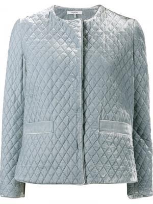 Бархатный пиджак Hayden Ganni. Цвет: синий