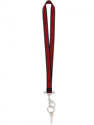 Брелок со звездами Givenchy. Цвет: красный