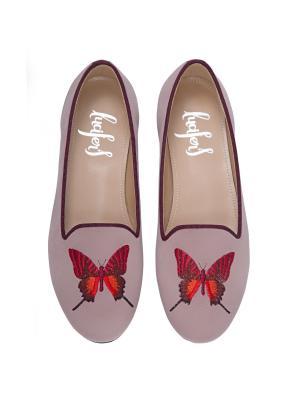 Слиперы - Бабочки Lucifer's shoes. Цвет: светло-коралловый