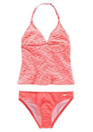 Танкини VENICE BEACH. Цвет: оранжево-красный/белый