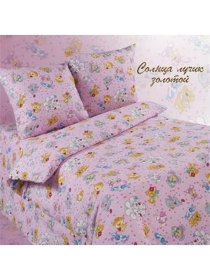 Комплект постельного белья Soni kids. Цвет: розовый