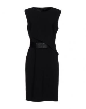 Платье до колена ELISABETTA FRANCHI 24 ORE. Цвет: черный