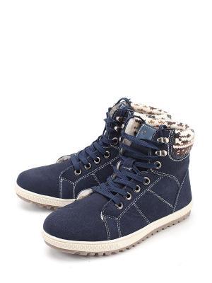 Ботинки LETMI. Цвет: синий