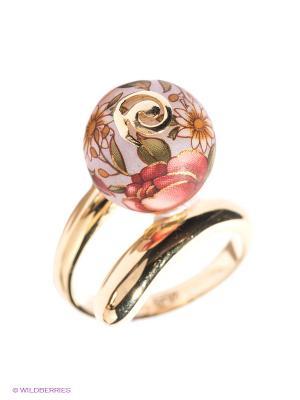 Кольцо ЭСТЕТ. Цвет: золотистый, розовый