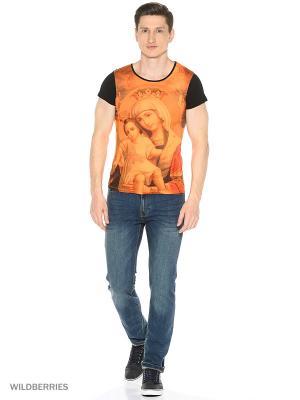 Футболка Alex DANDY. Цвет: оранжевый