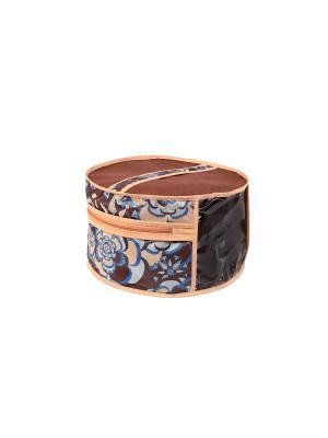 Чехол для шапок, диаметр 35см Прованс 1316 COFRET. Цвет: бежевый, голубой, коричневый