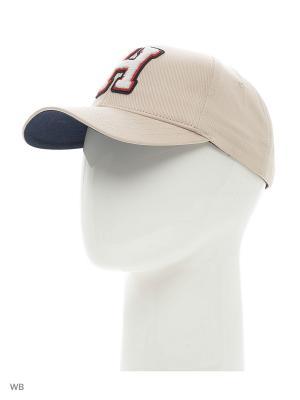 Бейсболка Tommy Hilfiger. Цвет: бежевый