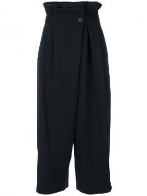 Укороченные брюки с мешковатым поясом Enföld. Цвет: синий