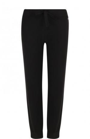 Однотонные хлопковые брюки с эластичным поясом Deha. Цвет: черный