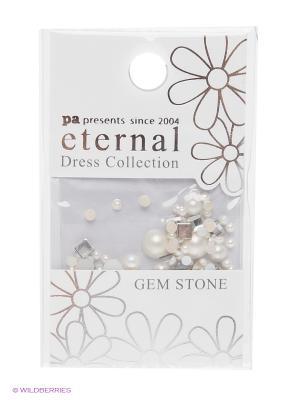 Стразы-камушки для ногтей Белая Любовь ETERNAL Dress Collection Gem Stone White Love PA presents since 2004. Цвет: белый