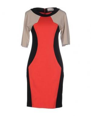 Короткое платье NINE. Цвет: красный