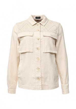 Куртка Topshop. Цвет: бежевый