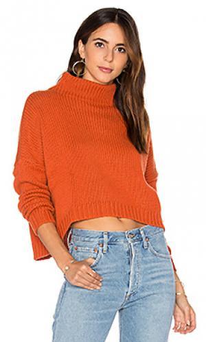 Свитер с высоким воротом Autumn Cashmere. Цвет: оранжевый