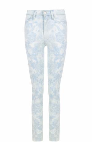 Укороченные джинсы с принтом Paige. Цвет: голубой
