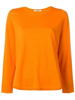 Джемпер с круглым вырезом Lamberto Losani. Цвет: жёлтый и оранжевый