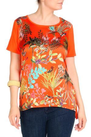 Блуза SARAH KERN. Цвет: оранжевый