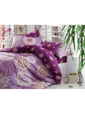 Кпб семейный сатин OTTOMAN, фиолетовый HOBBY HOME COLLECTION. Цвет: фиолетовый