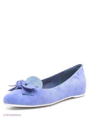 Балетки Sinta Gamma. Цвет: голубой