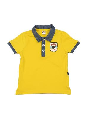 Футболка- поло Mini Maxi. Цвет: желтый
