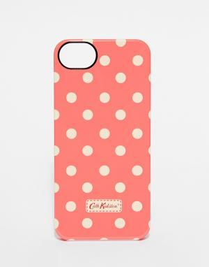 Cath Kidston Чехол для iPhone 5 в горошек. Цвет: розовый