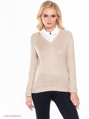 Пуловер EASY WEAR. Цвет: бежевый